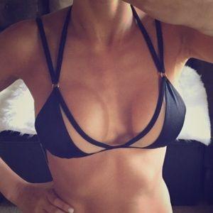 Victoria's Secret Swim - Victoria Secret Strappy Black and Nude Mesh Bikini